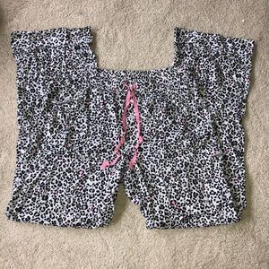 Victoria Secret black & white cheetah pajama pants